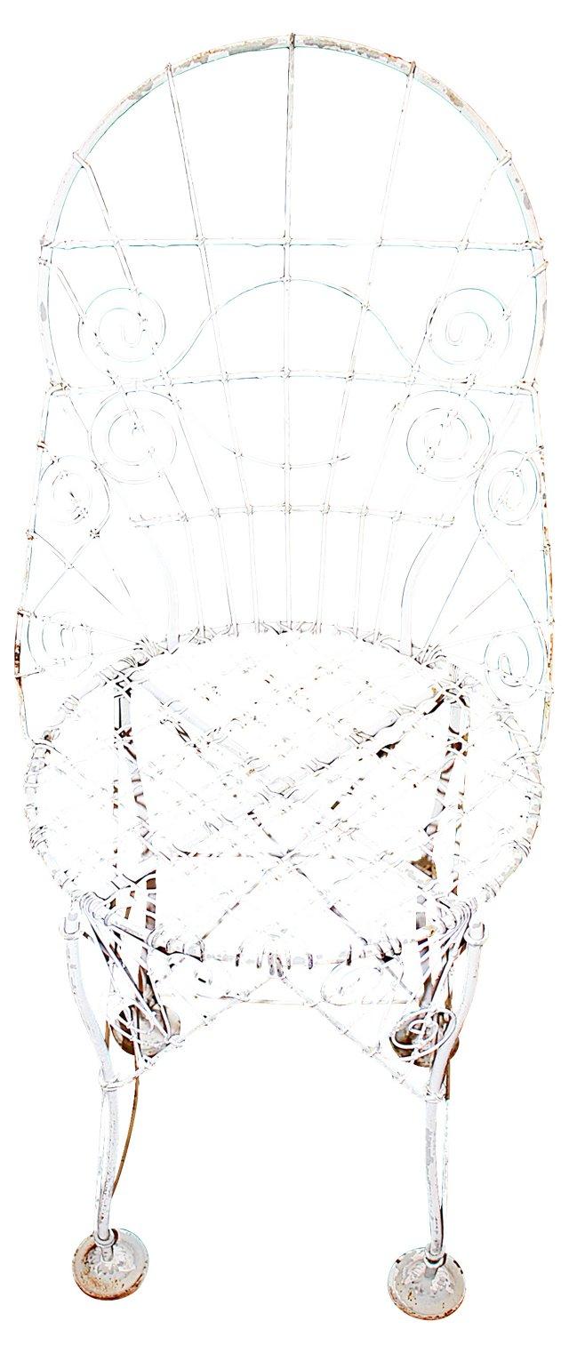 French Wire Garden Chair