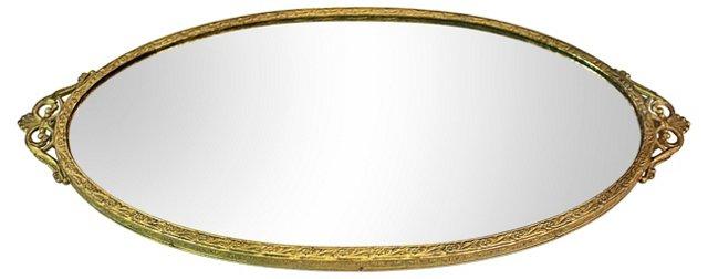 Bronze Vanity Mirror Tray