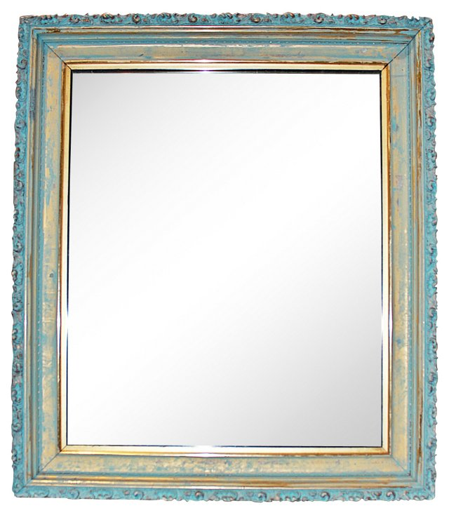 Faux-Painted Gilt Mirror