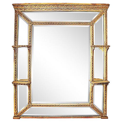 Box Mirror w/ Shelves