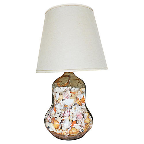 Shell-Filled Table Lamp