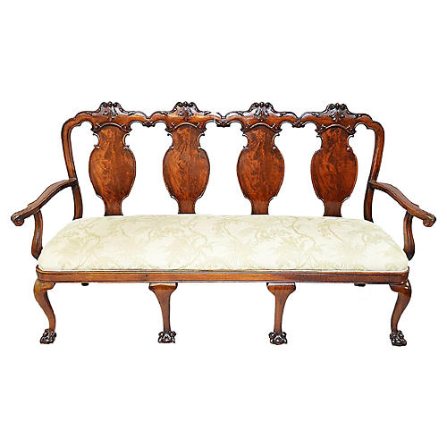 19th-C. Chippendale Settee