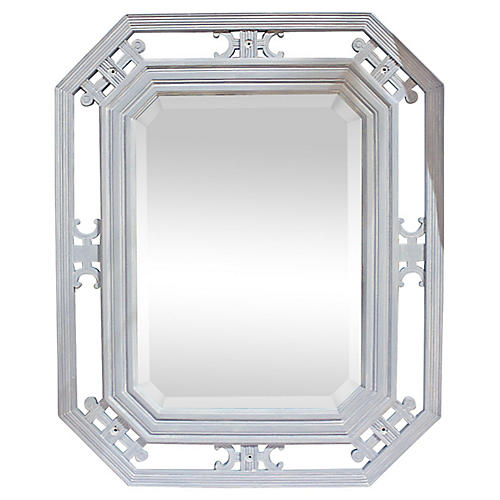 19th-C. Beveled Mirror