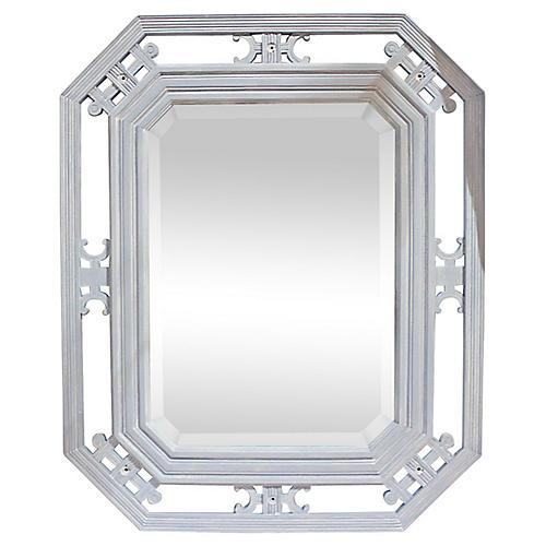 19th-C. Beveled Mirror