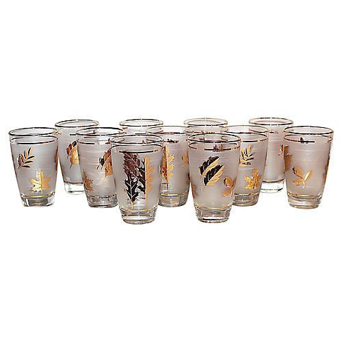 Mid-Century Modern Libbey Glasses, S/11