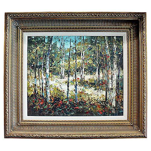 Aspen Landscape Painting