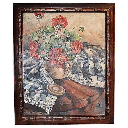 Midcentury Impressionist Painting