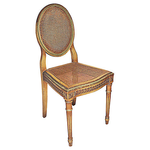 Painted Caned Vanity Chair