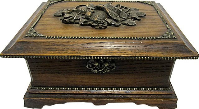 French Oak & Bronze Box