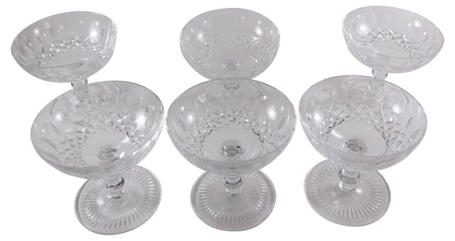 French Cut-Crystal Sherbets, S/6