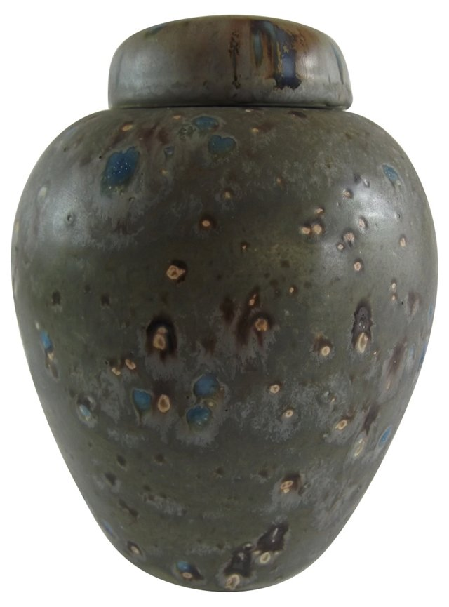 Hand Thrown Pottery Ginger Jar