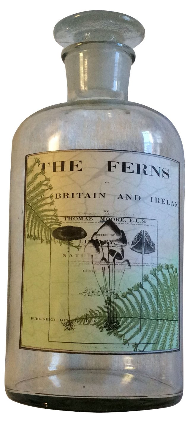 Bottle w/ Botanical Label