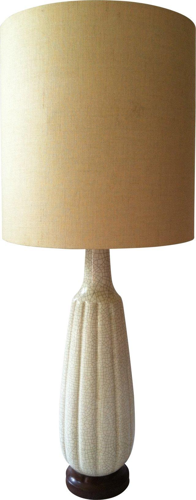 Tall Crackle-Glaze Lamp Base