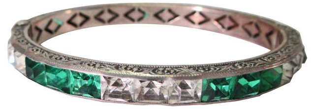 1920s Channel-Set Bracelet
