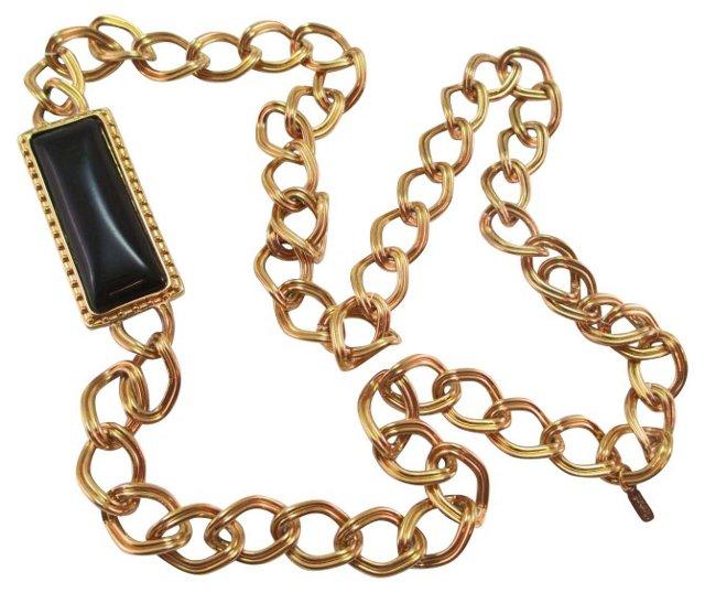 Monet Chain Medallion Necklace