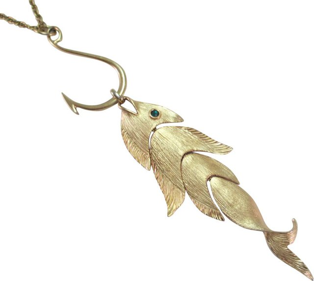 Napier Articulated Fish Necklace, 1971