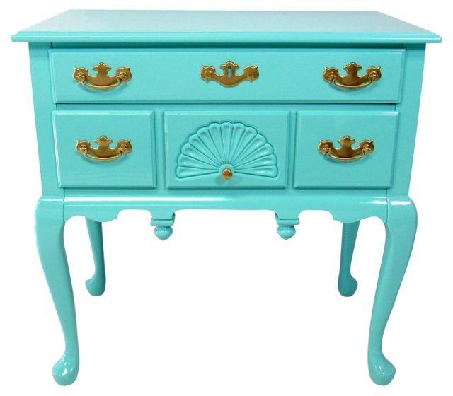 Tiffany Blue Walnut Side Table