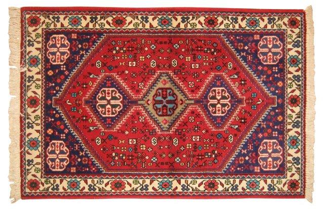 "Persian Tribal Rug, 4'8"" x 3'1"""