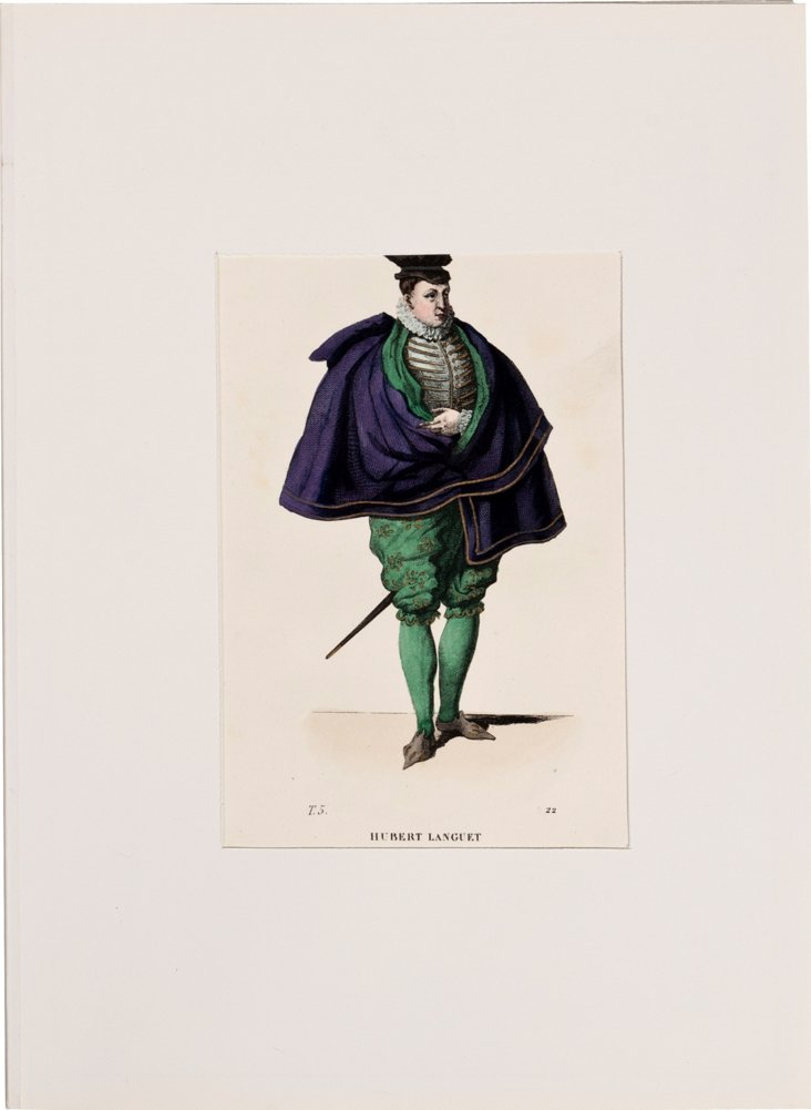 19th-C. French Costume Lithograph