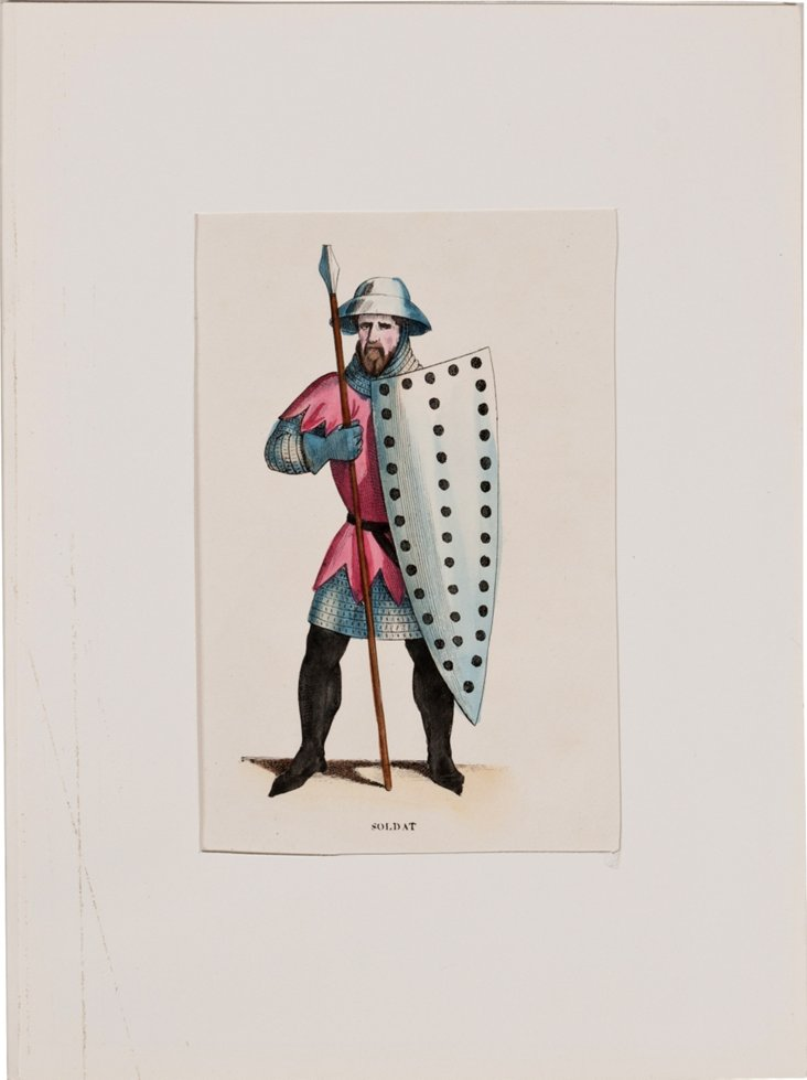 French  Costume   Print