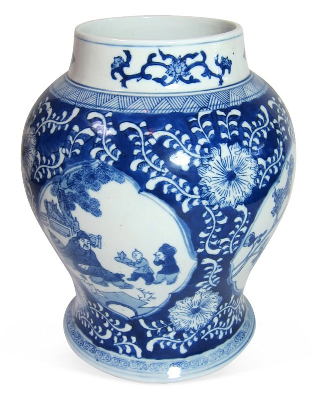Blue & White Asian Vase
