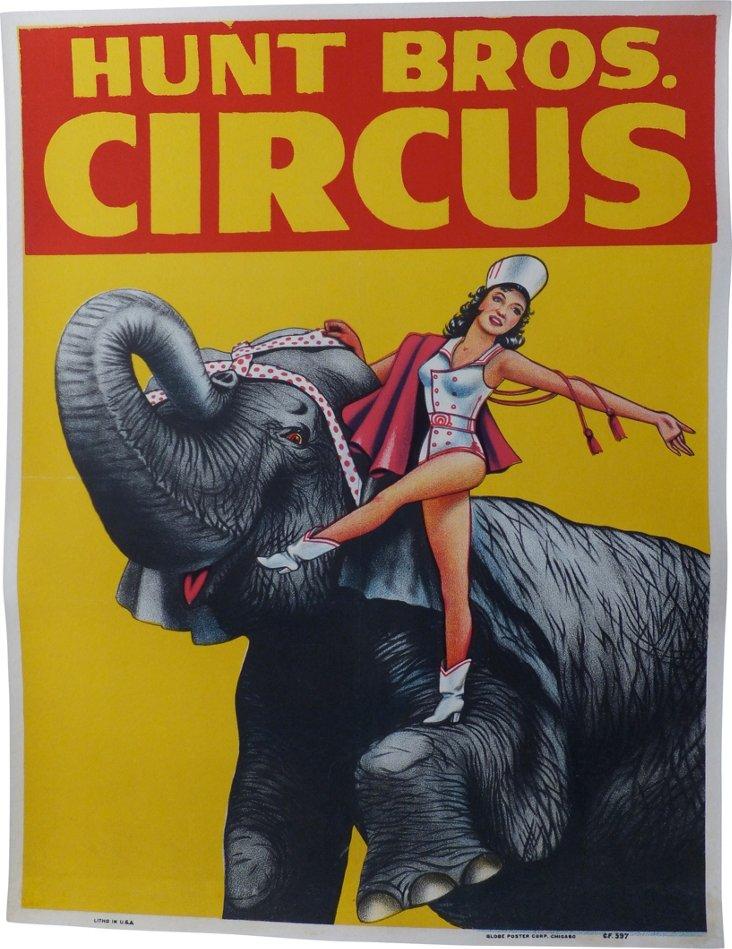 Hunt Bros. Circus Poster