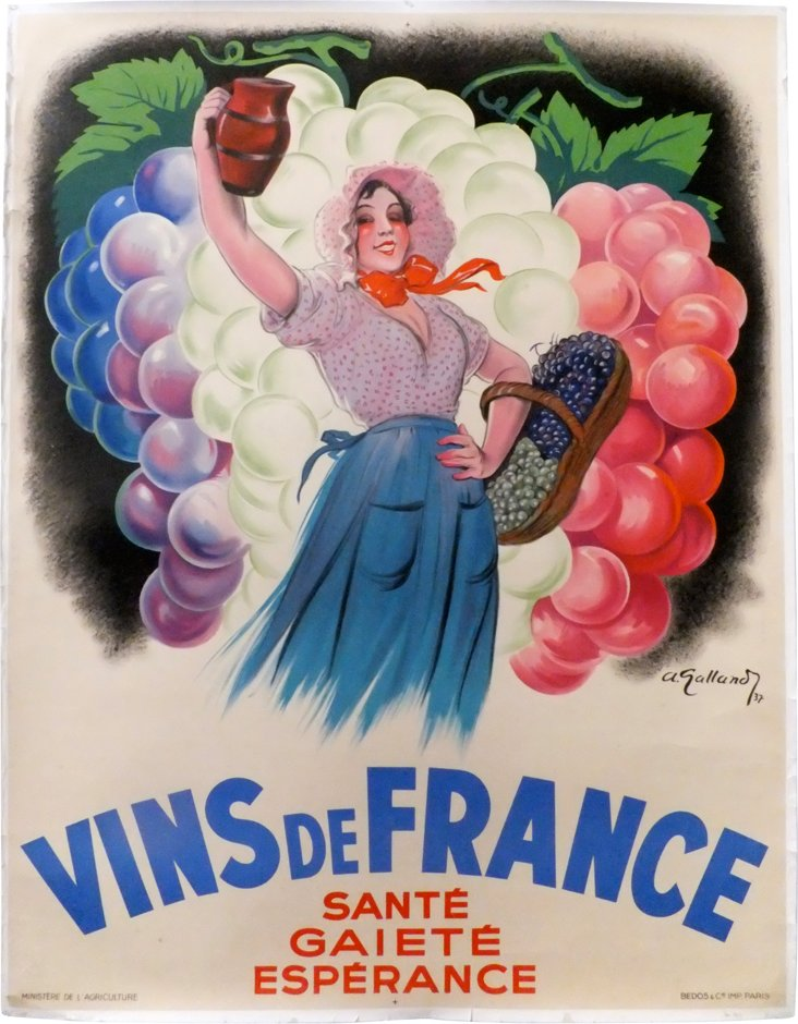 Vins de France Poster