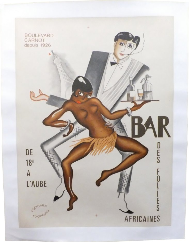 Bar des Folies Africaines French Poster