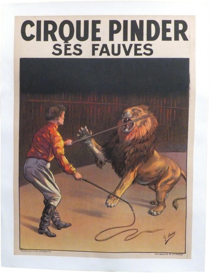 Cirque Pinder Lion Tamer Poster