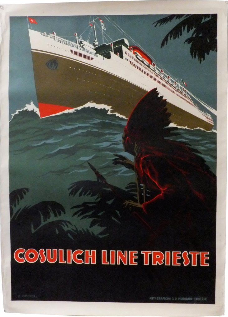 Antique Poster for Travel to America