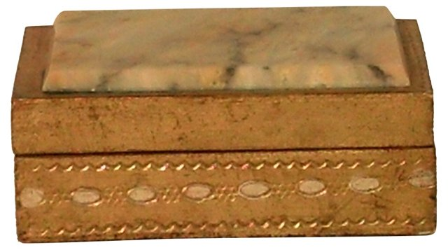 Florentine Box w/ Marble Top