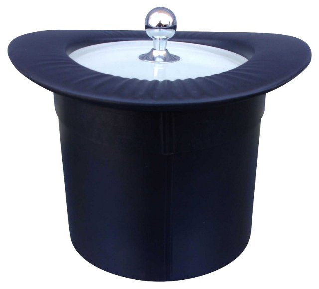 Midcentury Black Top Hat Ice Bucket
