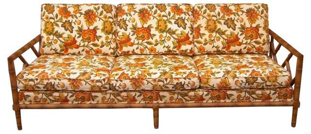 Faux-Bamboo Fretwork   Sofa