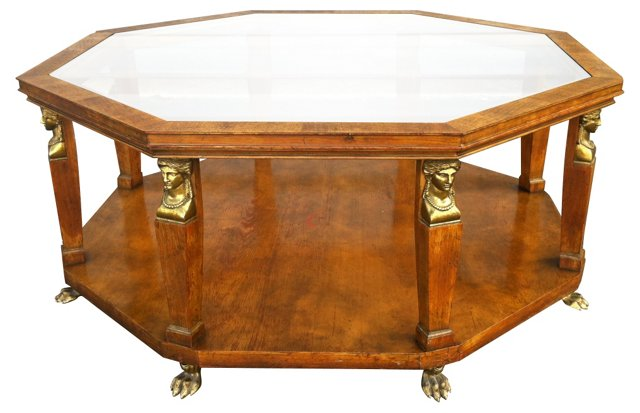 Octagonal Cocktail Table By Baker