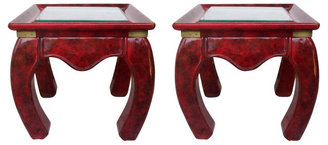 Ming-Style Side Tables, Pair