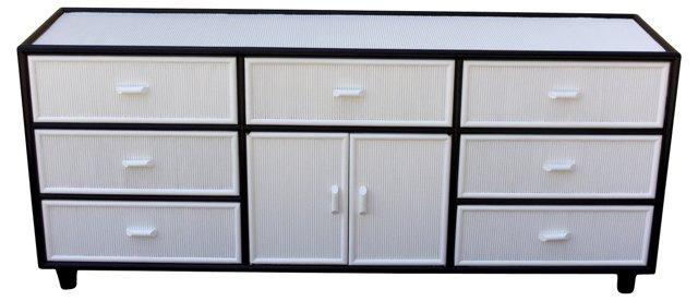 Black & White Faux-Bamboo Dresser