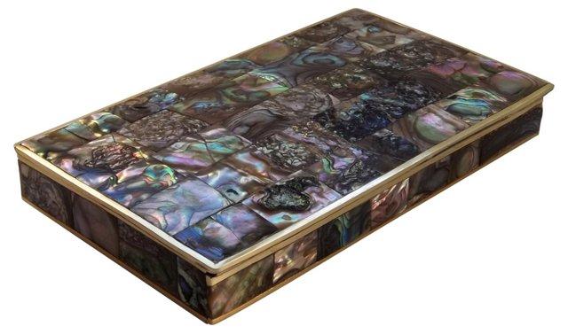 1950s Abalone & Brass Box