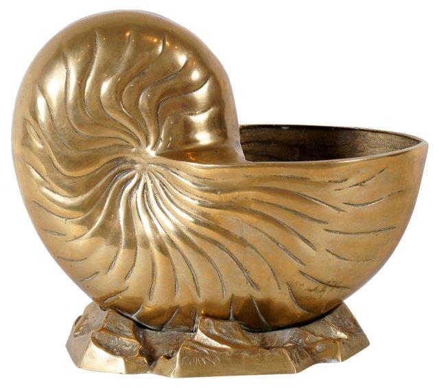 Brass Nautilus Shell Planter