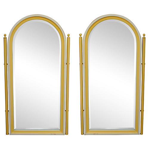 Palm Beach-Style Mirrors, Pair