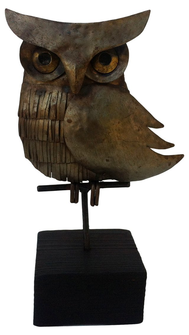 1970s Ornamental Owl Sculpture