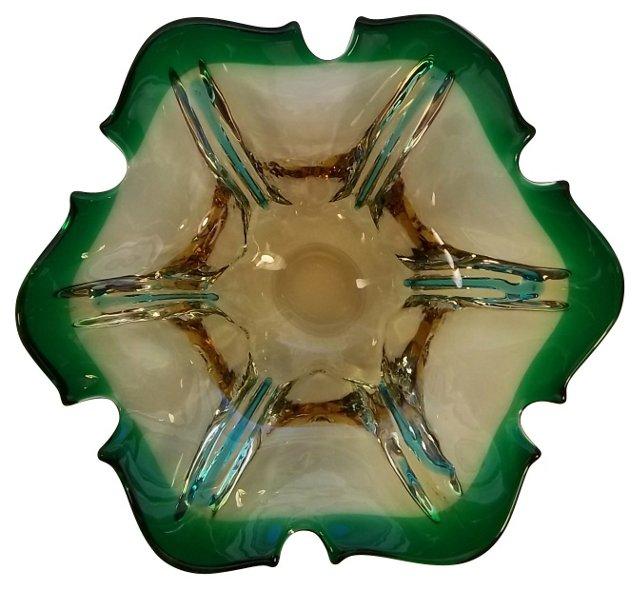 Emerald-Green Murano Ashtray