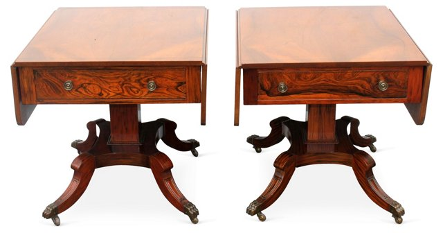 1940s Duncan Phyfe-Style Tables, Pair