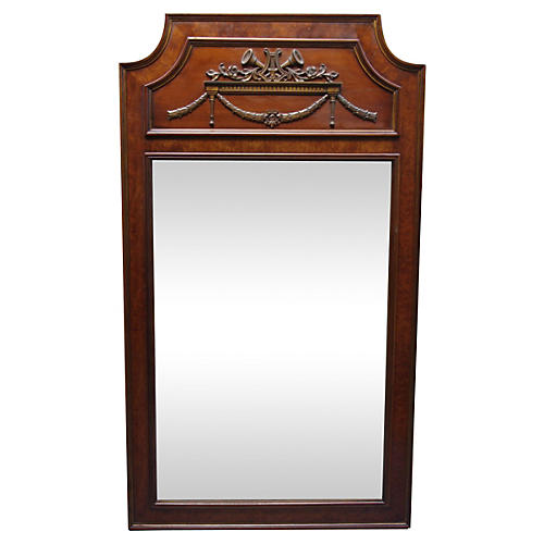 Walnut & Burl-Wood Mirror