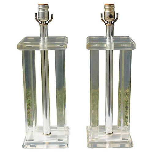 Column Lamps, Pair
