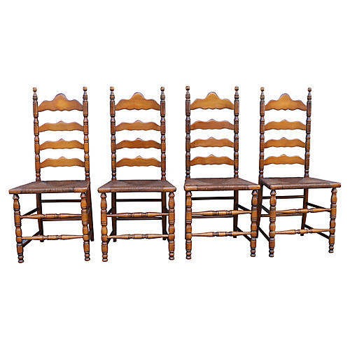 American Pine Side Chairs, S/4