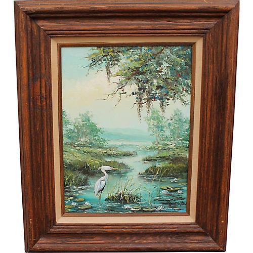 Landscape w/ Pelican