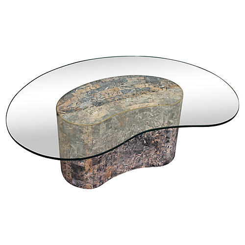 Midcentury Tessellate Stone Coffee Table
