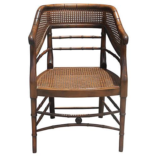 Midcentury Bamboo Armchair