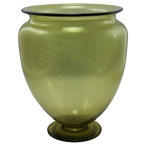 1930s Steuben Chartreuse Vase