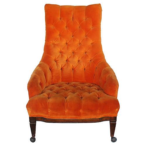 Mid-Century Modern Velvet Chair